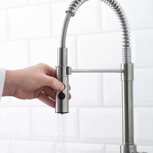 VIMMERN خلاط ماء للمطبخ مع رشاش لون الستانليس ستيل. 47 سم