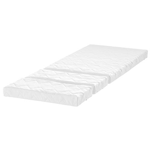 VIMSIG مرتبة أسفنجية لسرير قابل للتمديد 165 سم 200 سم 130 سم 80 سم 10 سم