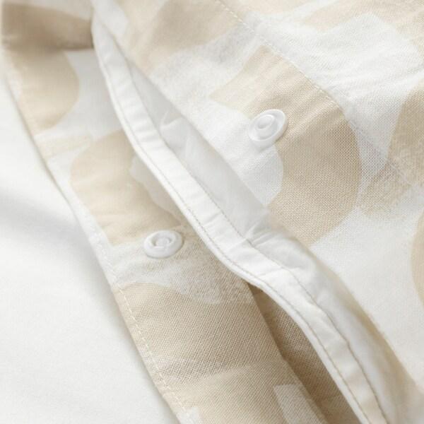 VINTERJASMIN غطاء لحاف/2كيس مخدة أبيض/بيج 104 بوصة مربعة 2 قطعة 220 سم 240 سم 50 سم 80 سم