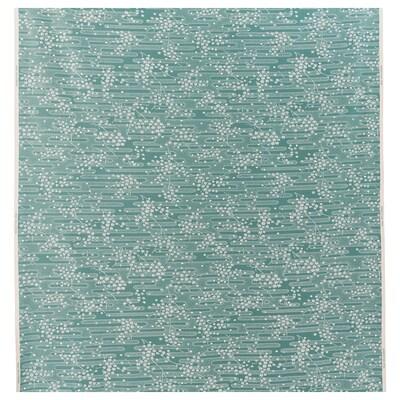 ÄNGSMOTT قماش, رمادي- تركواز/أبيض, 150 سم