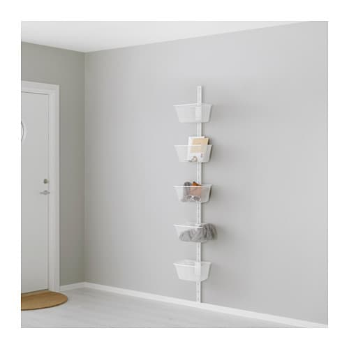 ALGOT Wall upright/basket   The parts in the ALGOT series can be combined in many different ways and so can easily be adapted to needs and space.