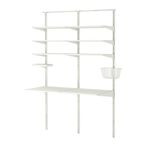ALGOT Wall upright/shelves   The mounting rail helps you hang ALGOT wall uprights evenly and the right distance from each other.