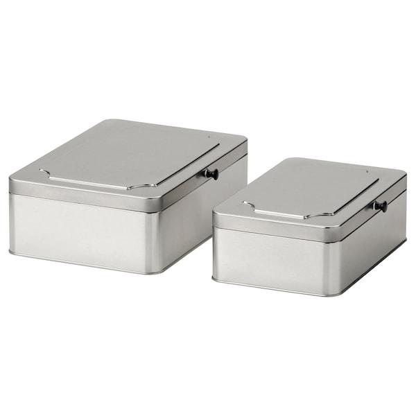 ANILINARE صندوق بغطاء، طقم من 2, معدن