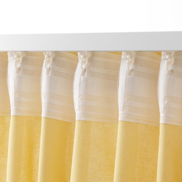 ANNALOUISA Curtains, 1 pair, light yellow, 145x300 cm