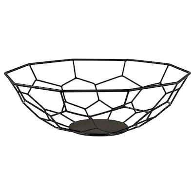 ARBETE Decorative bowl, black, 32 cm