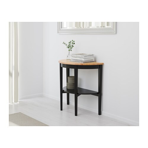ARKELSTORP Window table   Solid wood is a durable natural material.  Separate shelf for magazines, etc.