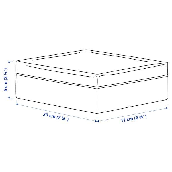 BAXNA Organiser, grey/white, 17x20x6 cm