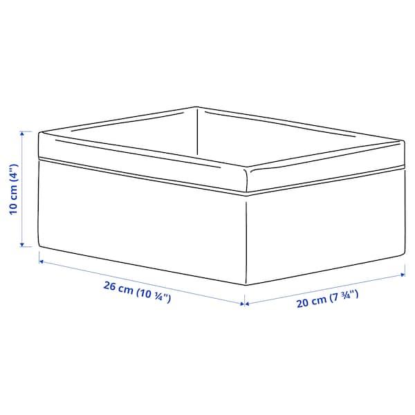 BAXNA منظم, رمادي/أبيض, 20x26x10 سم