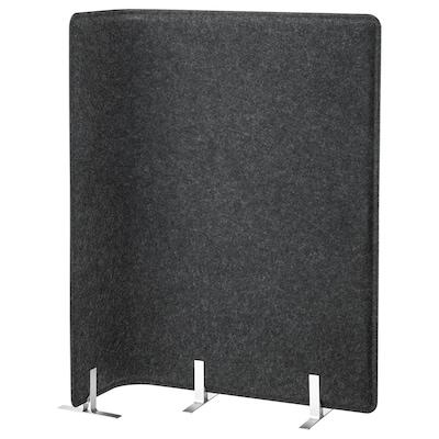 BEKANT Screen for desk, grey, 120 cm