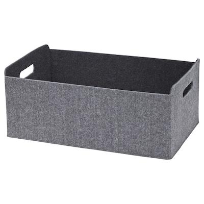 BESTÅ صندوق, رمادي, 32x51x21 سم