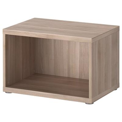 BESTÅ Frame, grey stained walnut effect, 60x40x38 cm