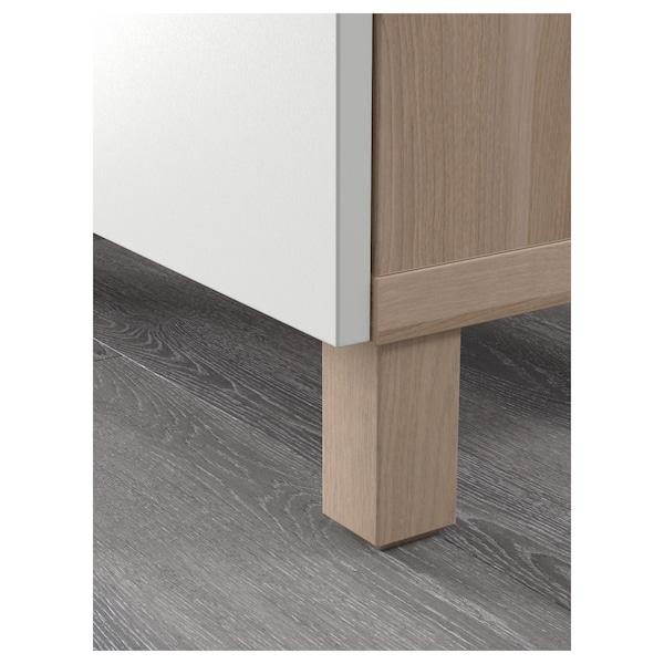 BESTÅ Storage combination with drawers, grey stained walnut effect/Lappviken white, 180x40x74 cm