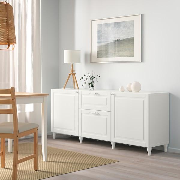 BESTÅ Storage combination with drawers, white/Smeviken/Kabbarp white, 180x42x74 cm
