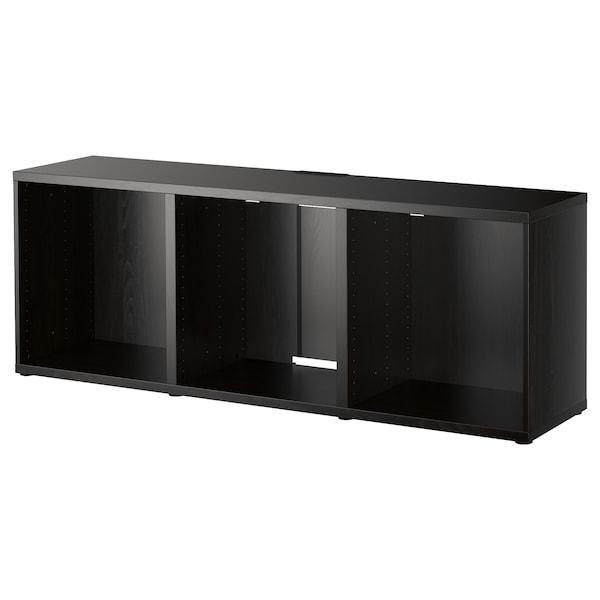 BESTÅ TV bench, black-brown, 180x40x64 cm