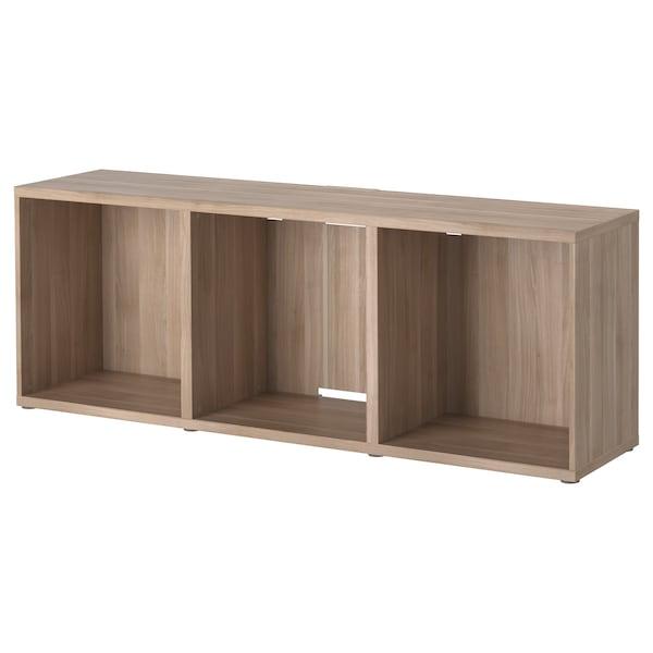 BESTÅ TV bench, grey stained walnut effect, 180x40x64 cm