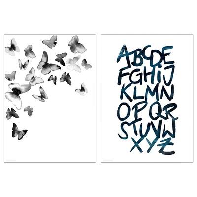 BILD Poster, Butterflies, 50x70 cm