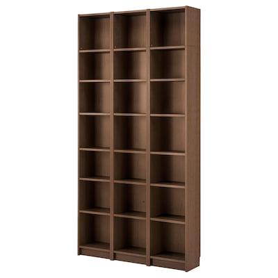 BILLY مكتبة, بني قشرة خشب الدردار, 120x28x237 سم