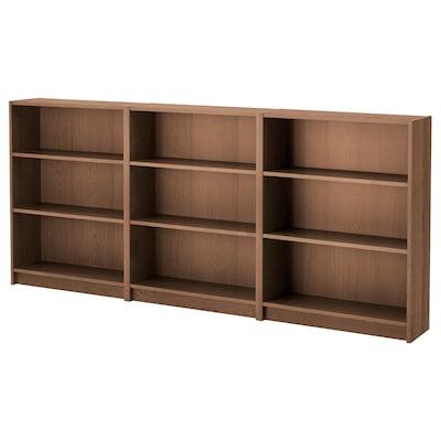 BILLY مكتبة, بني قشرة خشب الدردار, 240x28x106 سم