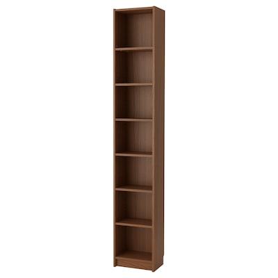 BILLY Bookcase, brown ash veneer, 40x28x237 cm