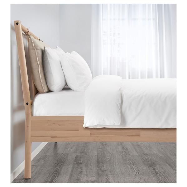 BJÖRKSNÄS Bed frame, birch/Lönset, 140x200 cm