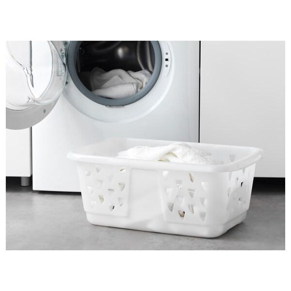 BLASKA سلة ملابس, أبيض, 36 ل