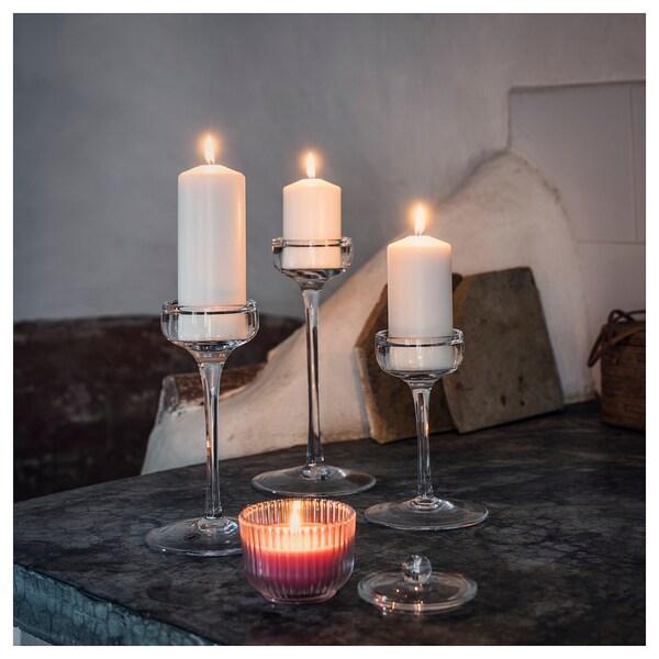 BLOMDOFT شمعة معطرة في كأس, الفاوانيا/زهري, 9 سم