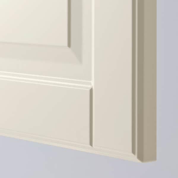 BODBYN طقم باب خزانة قاعدة زاوية 2 قطعة, أبيض-عاجي, 25x80 سم