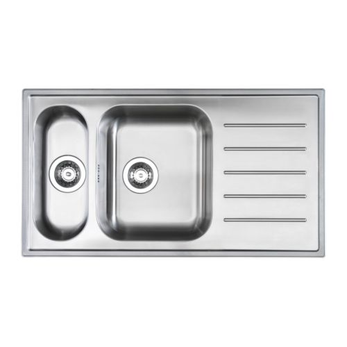BOHOLMEN 1 1/2 bowl insert sink with drainer 25 year guarantee. Read ...
