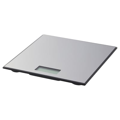 BORSÅN Scale, digital stainless steel, 30x30 cm