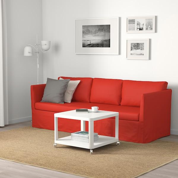 BRÅTHULT كنبة 3 مقاعد, Vissle أحمر/برتقالي