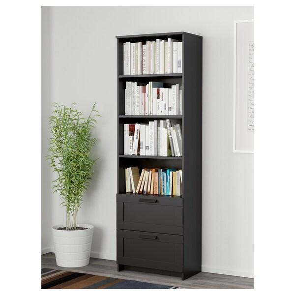 BRIMNES مكتبة, أسود, 60x190 سم