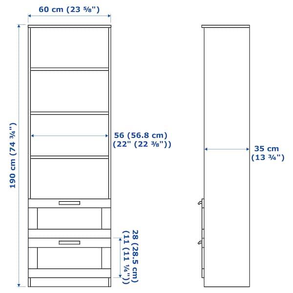 BRIMNES / BURHULT مجموعة تخزين تليفزيون, أبيض, 258x41x190 سم