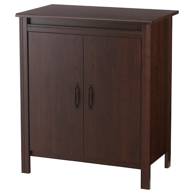 BRUSALI Cabinet with doors, brown, 80x93 cm