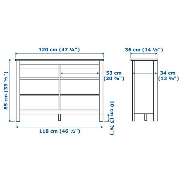 BRUSALI TV bench, brown, 120x36x85 cm