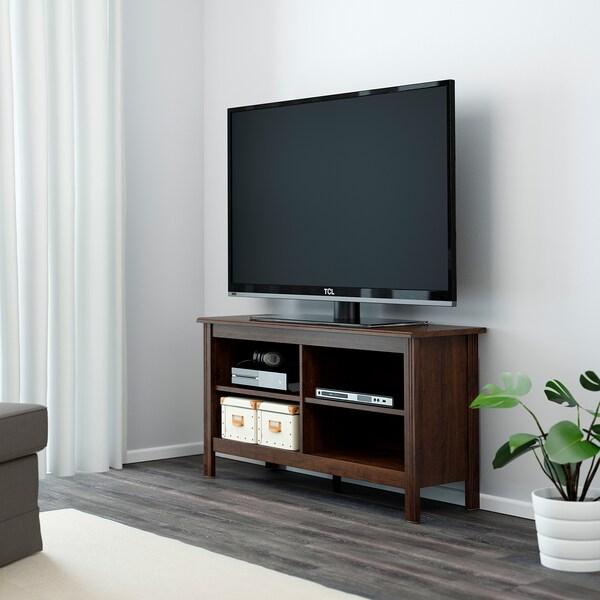 BRUSALI TV bench, brown, 120x36x62 cm