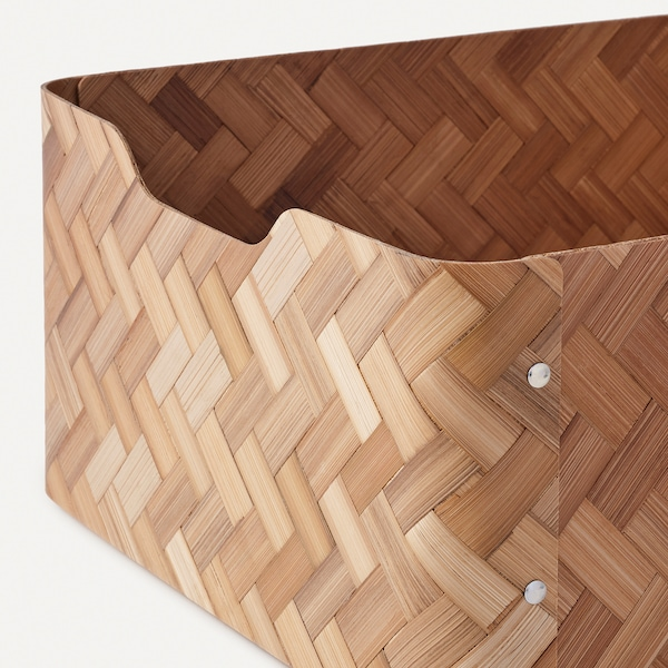 BULLIG صندوق, خيزران/بني, 32x35x16 سم