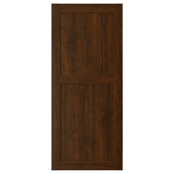 EDSERUM Door, wood effect brown, 60x140 cm