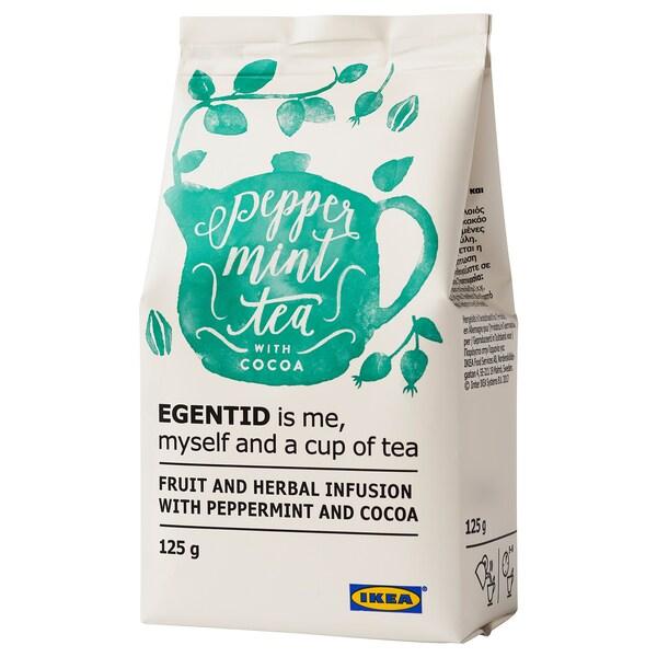 EGENTID شاي بالفواكه والأعشاب, النعناع / الكاكاو/معتمدة من UTZ, 125 غم