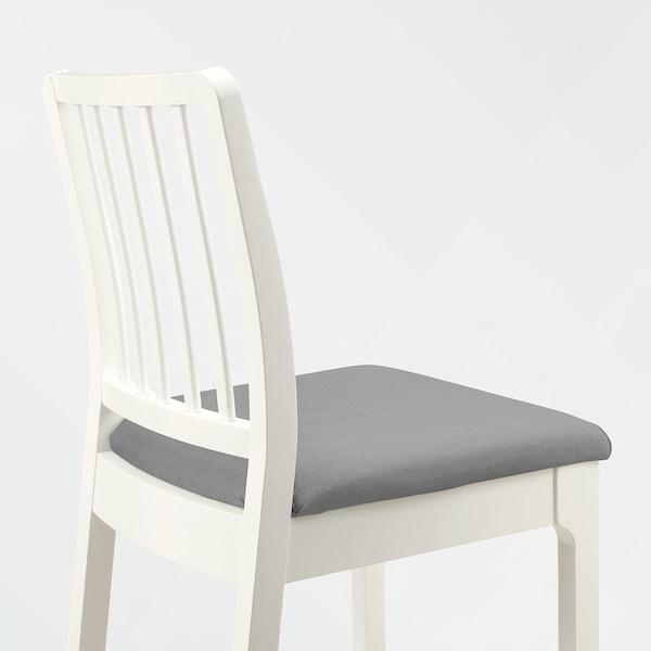 EKEDALEN مقعد مرتفع مع مسند ظهر, أبيض/Orrsta رمادي فاتح, 75 سم