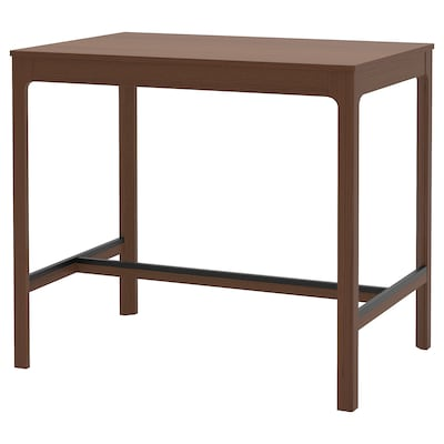 EKEDALEN Bar table, brown, 120x80 cm