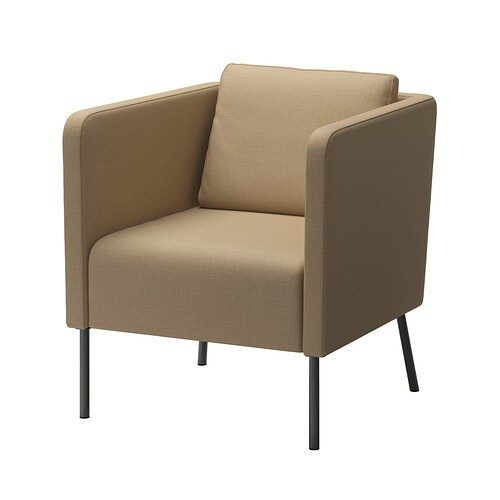 EKERÖ Armchair   The reversible back cushion gives soft support for your back and two different sides to wear.