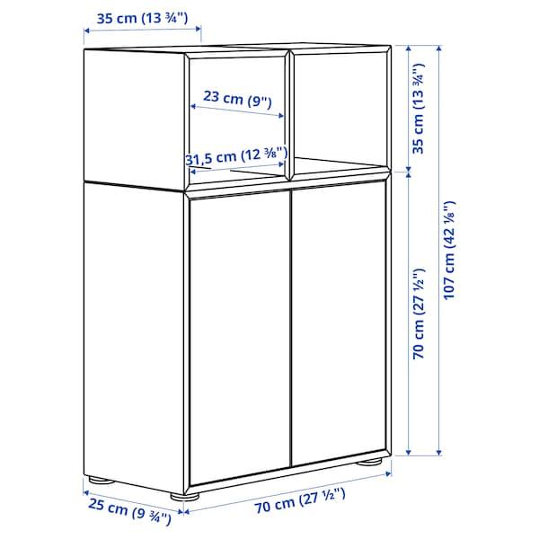 EKET Cabinet combination with feet, dark grey/light grey, 70x25x107 cm