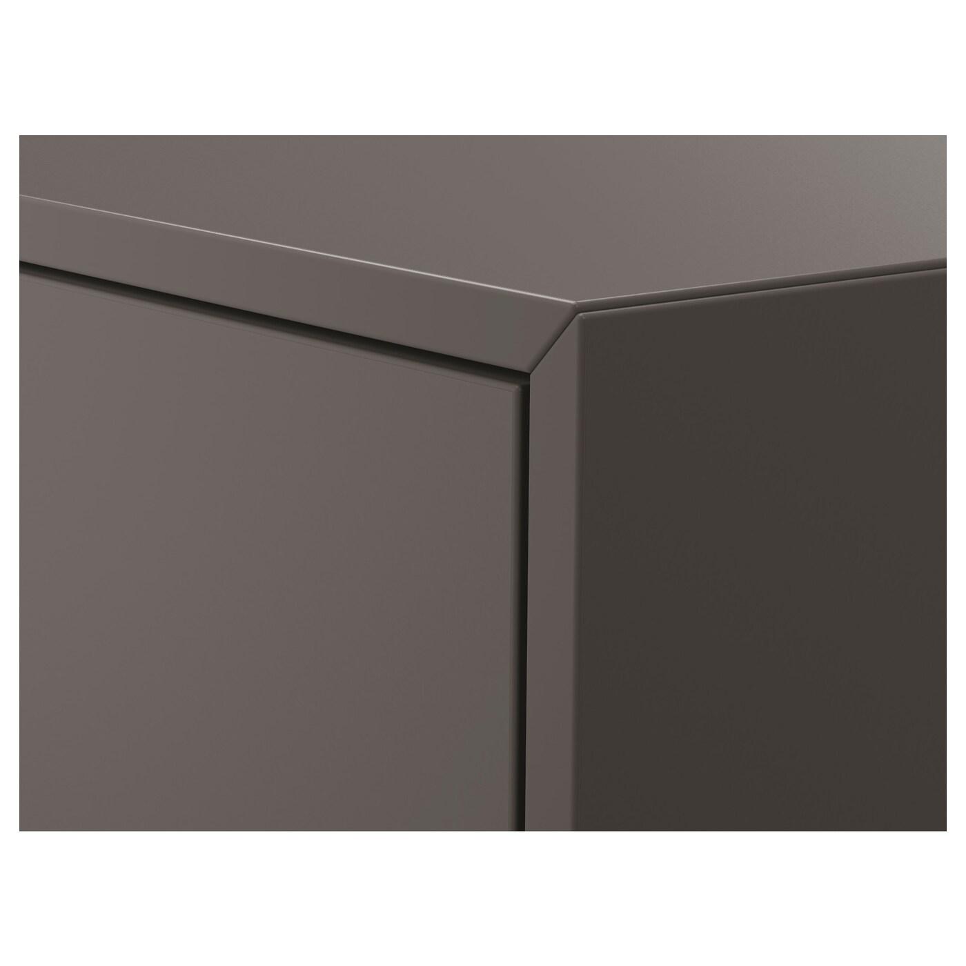 EKET خزانة مع دُرجين, رمادي غامق, 35x35x35 سم