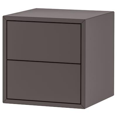 EKET Wall cabinet with 2 drawers, dark grey, 35x35x35 cm