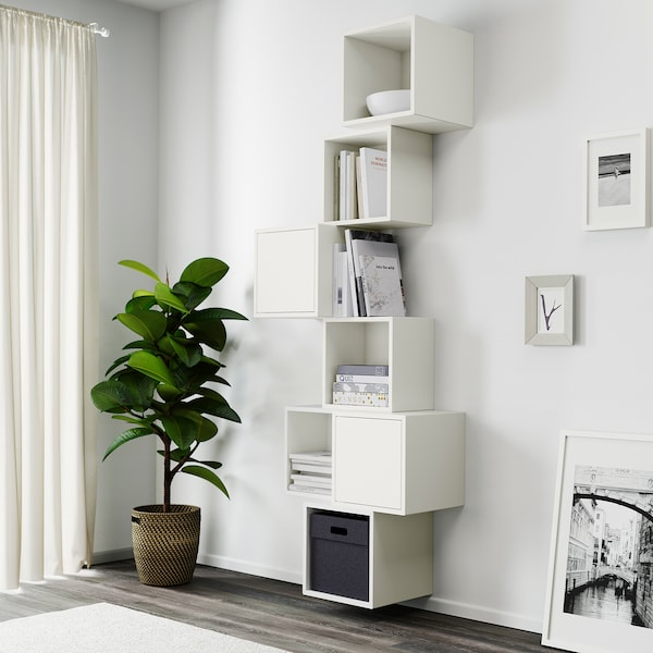 EKET Wall-mounted cabinet combination, white, 80x35x210 cm