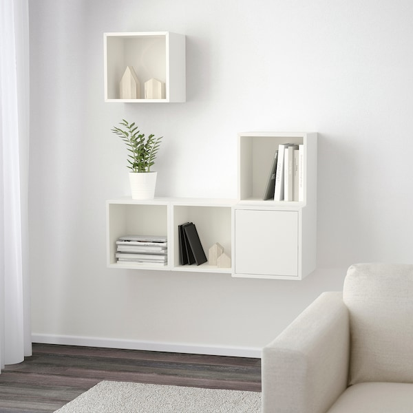 EKET Wall-mounted cabinet combination, white, 105x35x120 cm