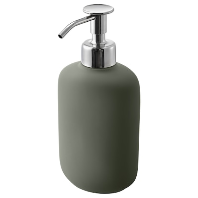 EKOLN Soap dispenser, grey-green