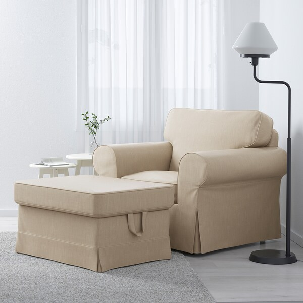 EKTORP Armchair - Nordvalla dark beige - IKEA