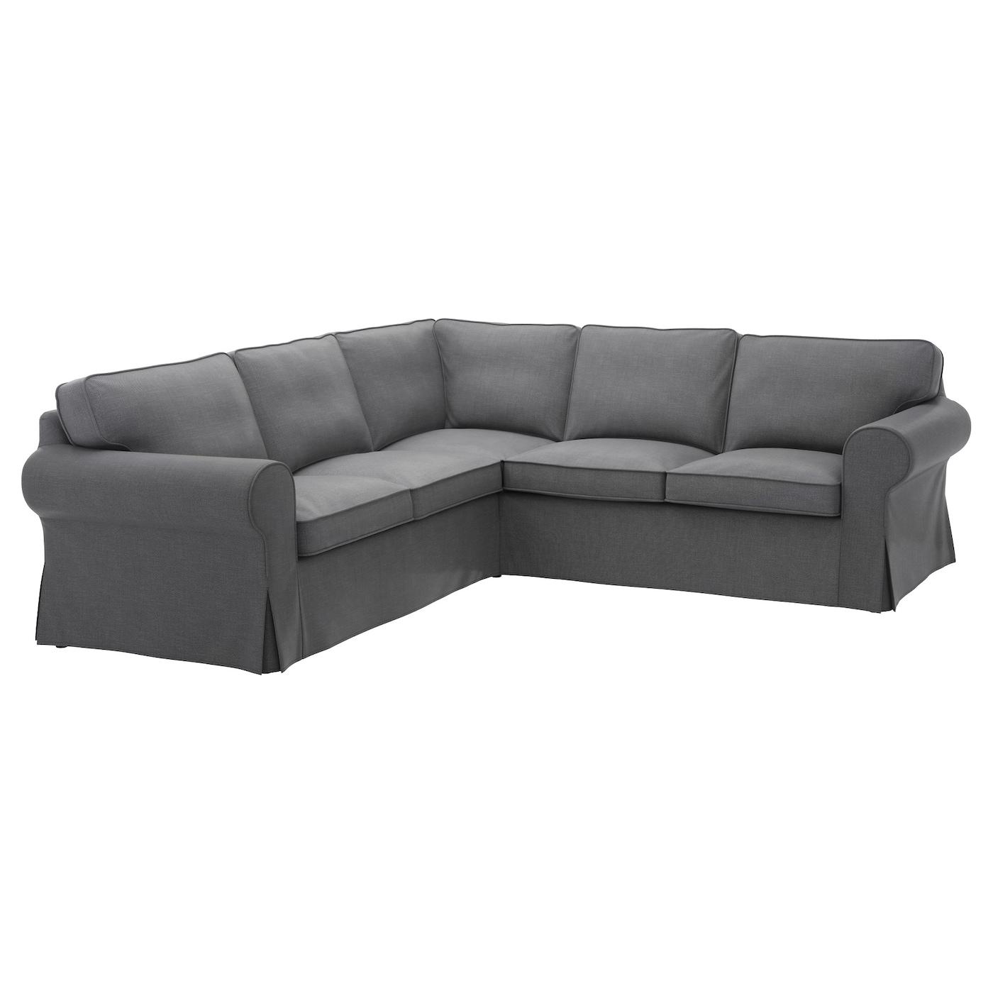Ektorp Corner Sofa 4 Seat Nordvalla Dark Grey