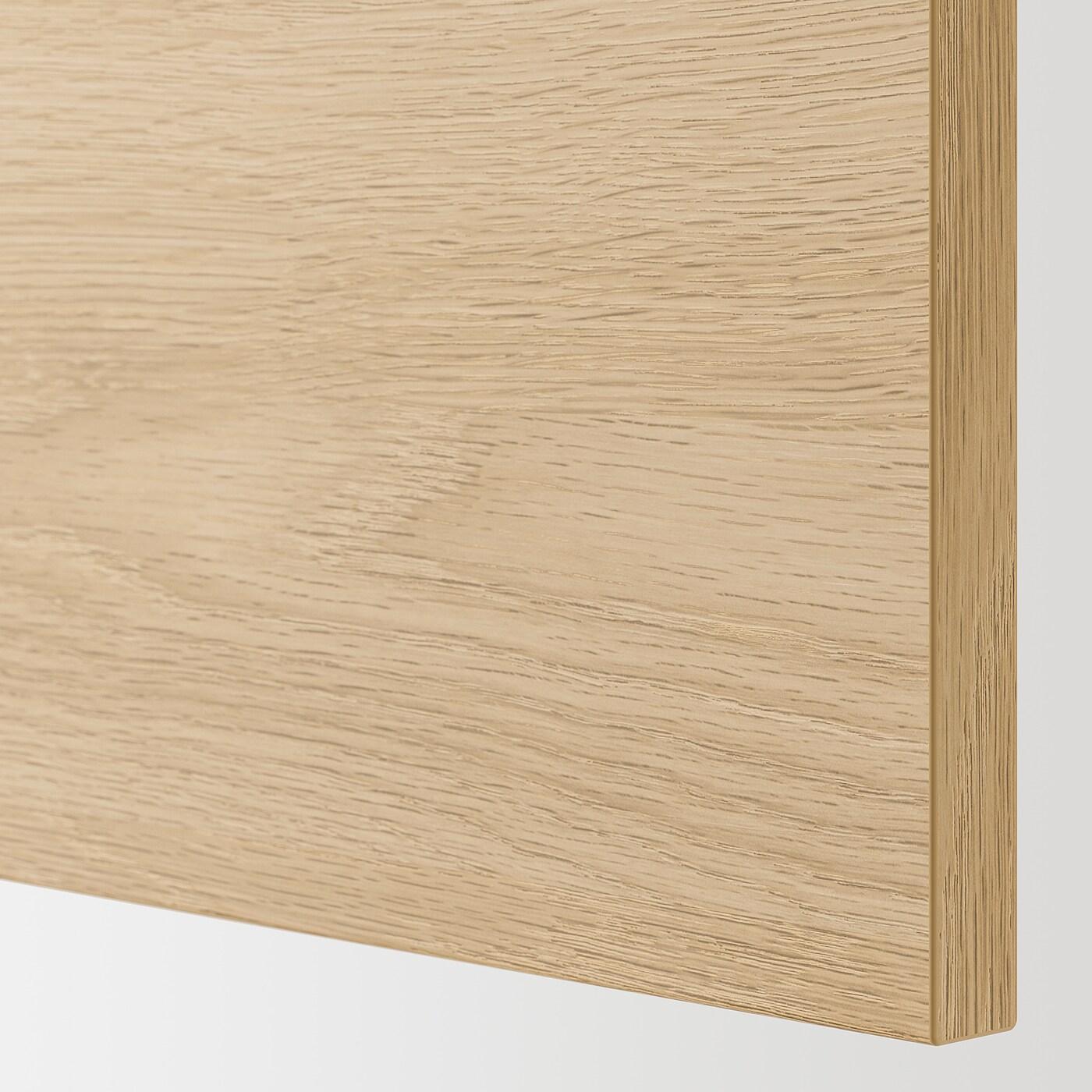 ENHET خزانة قاعدة مع رف/باب, أبيض/شكل السنديان, 40x62x75 سم